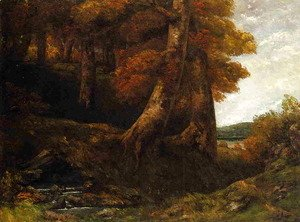 Gustave Courbet - Entering the Forest