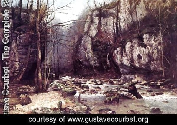 Gustave Courbet - The Stream of the Puits-Noir at Ornans