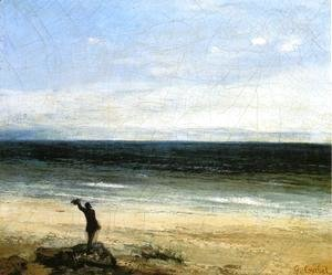 Gustave Courbet - The Beach at Palavas