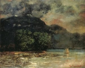 Gustave Courbet - Lake Geneve before the Storm