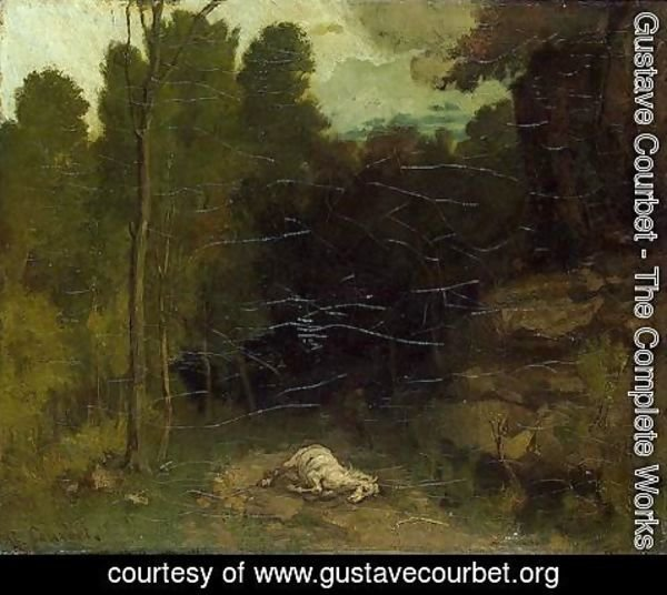Gustave Courbet - Landscape with a Dead Horse