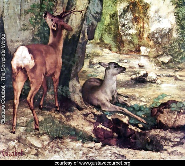 A Thicket of Deer at the Stream of Plaisir-Fountaine, Detail