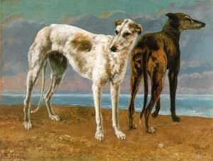 Gustave Courbet - Count de Choiseul's Greyhounds