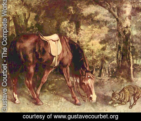 Gustave Courbet - Horse in the forest