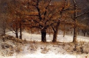 Gustave Courbet - Landscape with snow