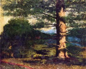 Gustave Courbet - Landscape with tree