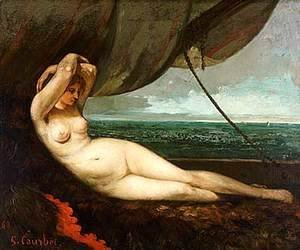 Gustave Courbet - Nude reclining by the sea