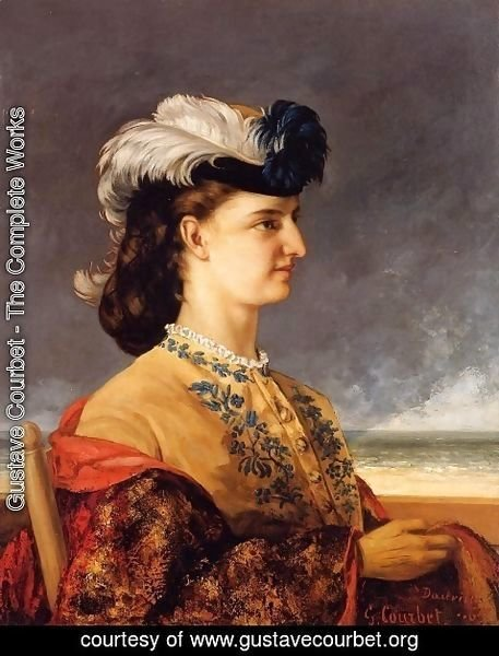 Gustave Courbet - Portrait of Countess Karoly