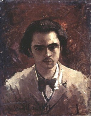 Gustave Courbet - Portrait of Paul Verlaine