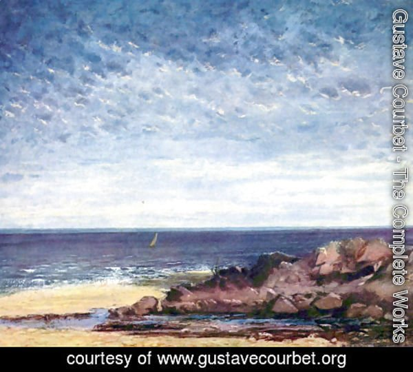 Gustave Courbet - Sea coast in Normandy