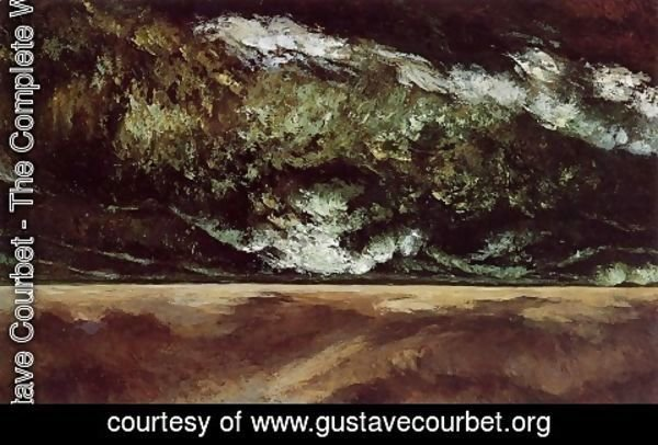 Gustave Courbet - The Angry Sea 2