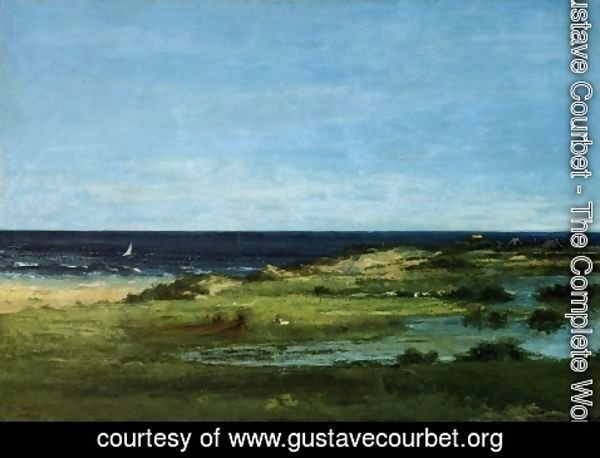 Gustave Courbet - The beach