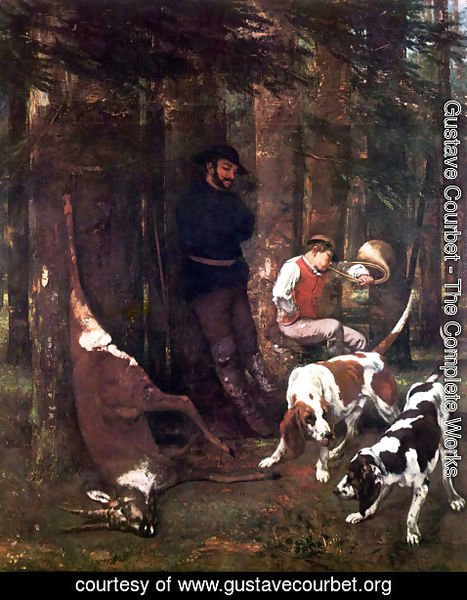 Gustave Courbet - The booty (hunting with dogs)
