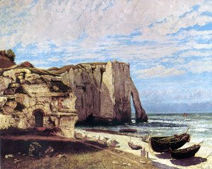 Gustave Courbet - The Cliffs of Étretat After the Storm