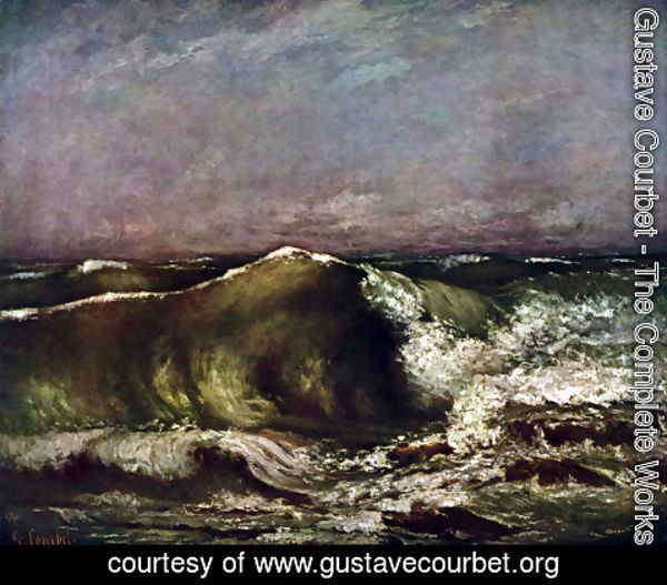 Gustave Courbet - The wave 7