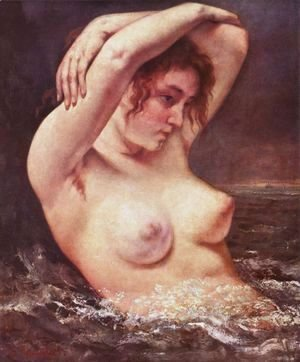 Gustave Courbet - The Woman in the Waves