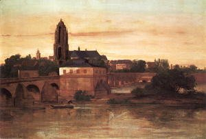 Gustave Courbet - View of Frankfurt