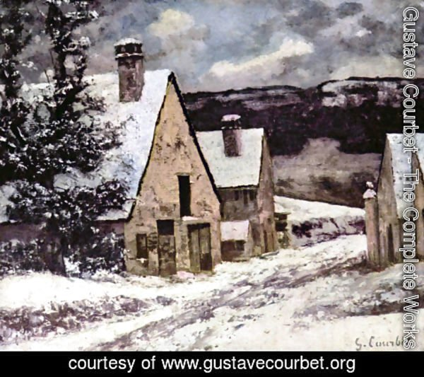 Gustave Courbet - Village at winter