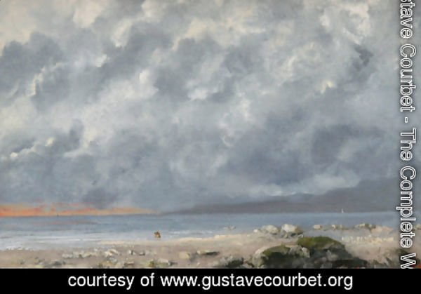 Gustave Courbet - Beach Scene