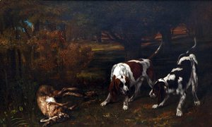 Gustave Courbet - Hunting Dogs