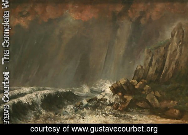 Gustave Courbet - Marine, The Waterspout