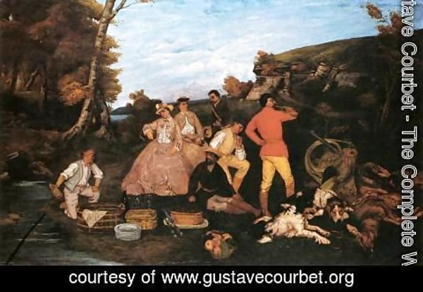 Gustave Courbet - The Hunt Breakfast