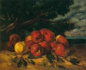 Gustave Courbet - Red Apples at the Foot of a Tree