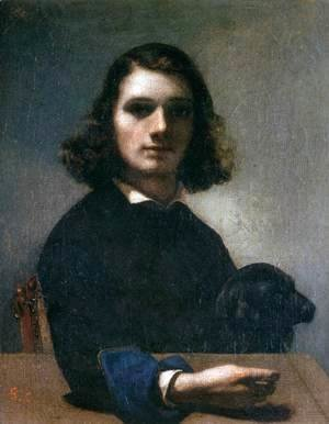 Gustave Courbet - Self-Portrait (Courbet with Black Dog)