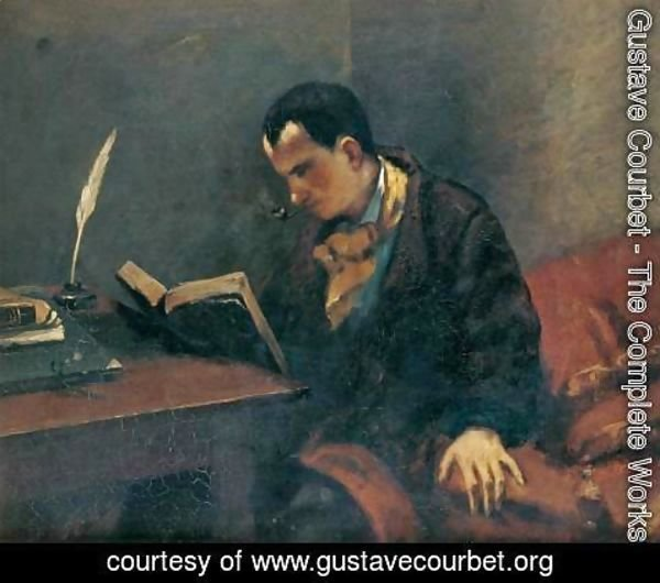 Gustave Courbet - Portrait of Baudelaire