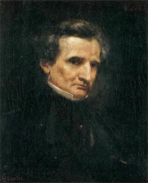 Gustave Courbet - Portrait of Hector Berlioz