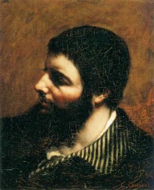 Gustave Courbet - Self-Portrait with Striped Collar 2