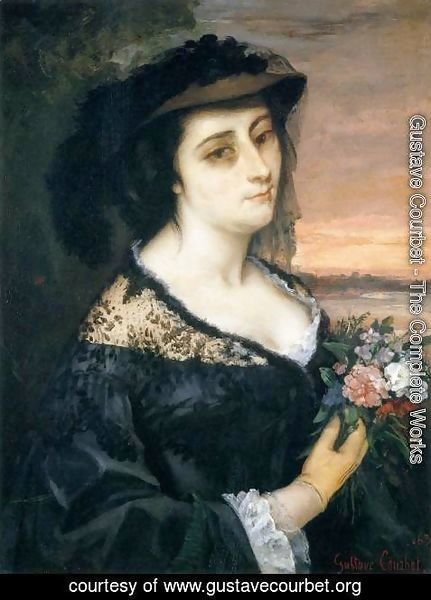 Gustave Courbet - Portrait of Laure Borreau