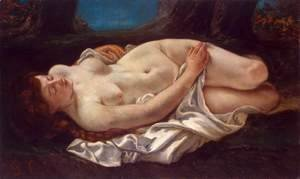 Gustave Courbet - Reclining Woman