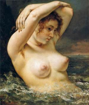 Gustave Courbet - The Woman in the Waves 2