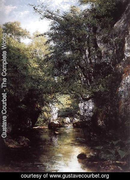 Gustave Courbet - The Stream at Breme