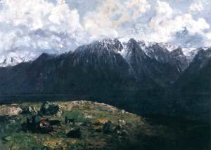 Gustave Courbet - Panoramic View of the Alps, Les Dents du Midi