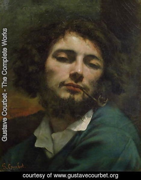 Gustave Courbet - Self Portrait or The Man with a Pipe 1846