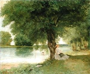 Gustave Courbet - The Charente at Port Bertaud 1862