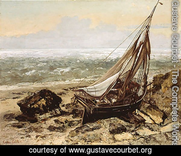Gustave Courbet - The Fishing Boat 1865