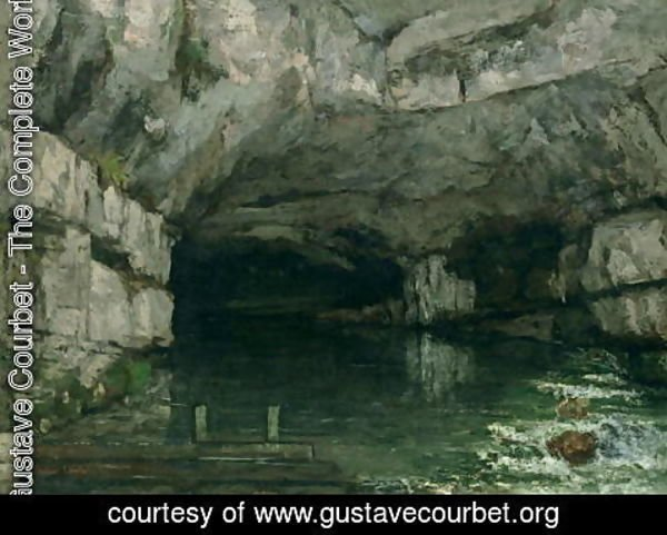 Gustave Courbet - The Grotto of the Loue 1864