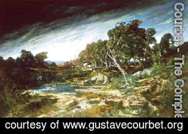 Gustave Courbet - The Gust of Wind 1865