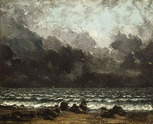 Gustave Courbet - The Sea 1873