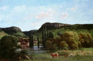 Gustave Courbet - View of Ornans 1864