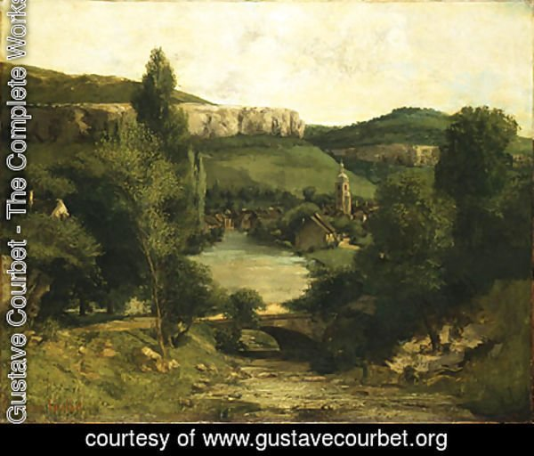 Gustave Courbet - View of Ornans probably mid 1850s