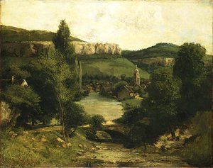 View of Ornans probably mid 1850s