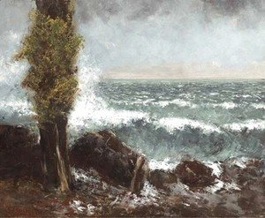Gustave Courbet - Marine, le peuplier