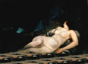Gustave Courbet - Femme endormie, tude