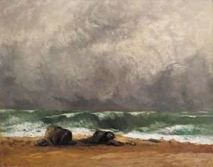 Gustave Courbet - La Vague 4