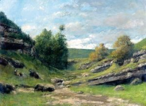 Gustave Courbet - La Vallee Rocheuse