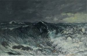 Gustave Courbet - La Vague 5